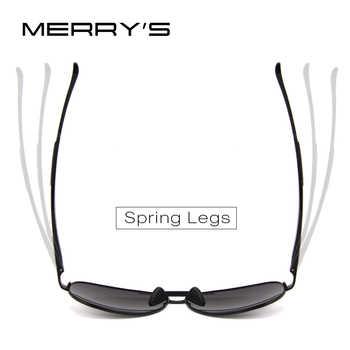 MERRYS Men Pilot Sunglasses HD Polarized Glasses Brand Polarized Sunglasses S8228
