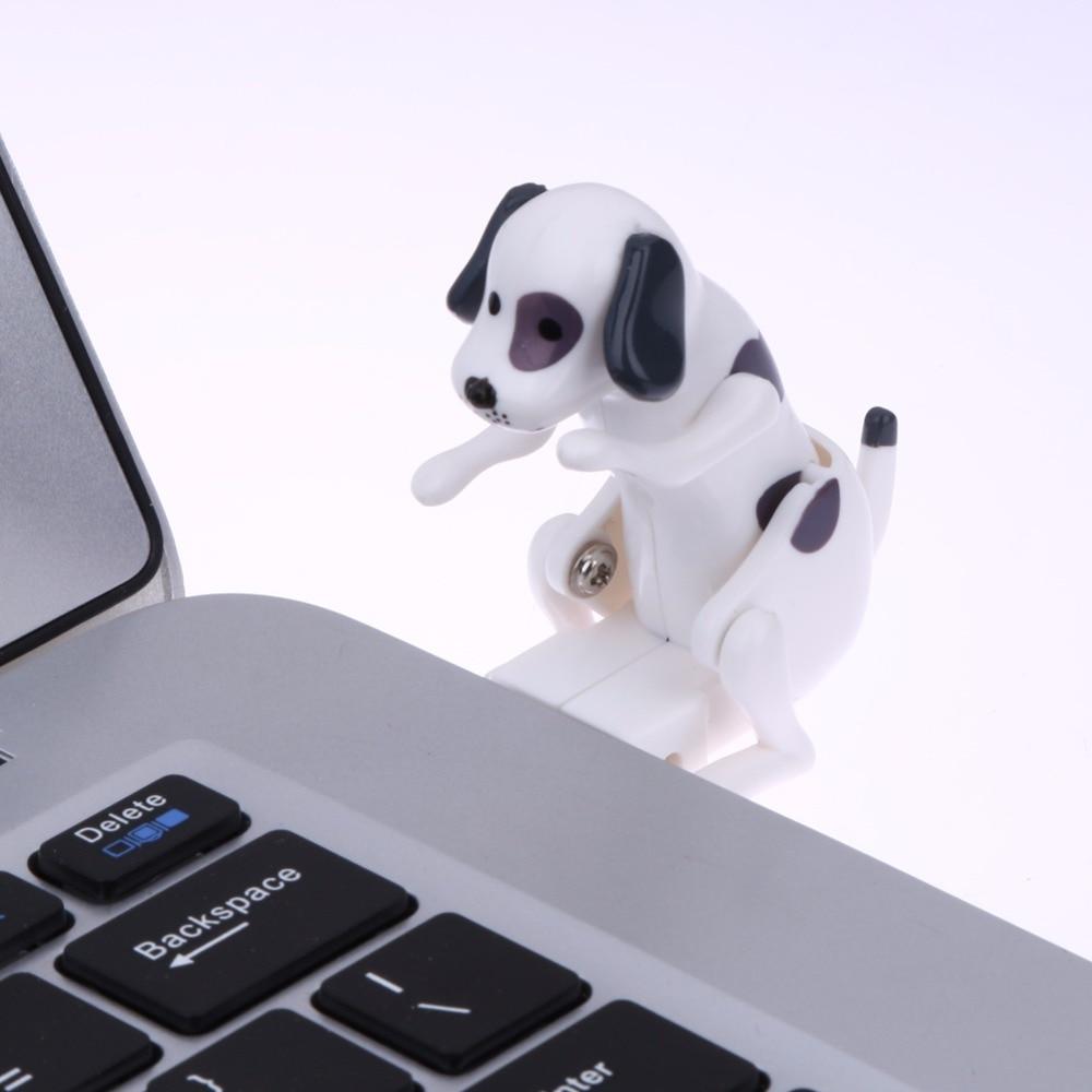 Портативен 60x30x60mm Забавни сладък домашни любимци USB Humping Spot куче творчески играчка Нови USB Gadgets