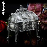Russian Jewelry Box Princess European Style Korean Ring Box Luxury Non Solid Wood Jewelry Collection Box