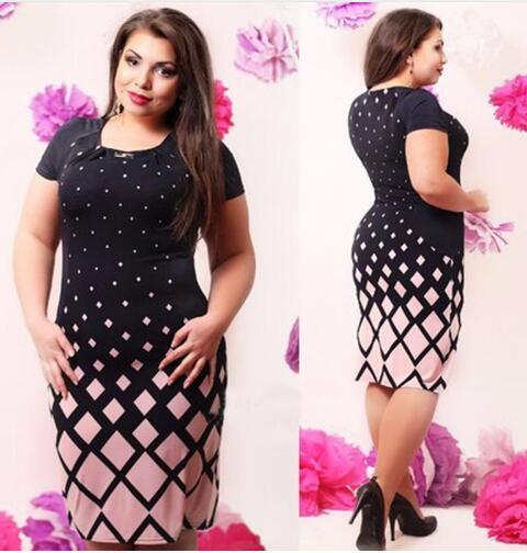 Fashion Women Clothing Vestidos Large Size 2018 Spring Summer Women Dresses Pink Green Casual Dress Plus Size 5XL 6XL