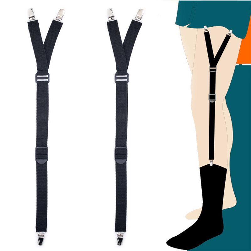Beautiful 1 Pair New Male Shirt Garters Mans Shirt Stays Holder Leg Suspenders Adjustable Elastic Shirt Braces Gourd Buckle Shirt Garters Moderate Cost Men's Accessories