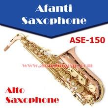 Afanti музыка Eb латунный корпус золотой лак альт саксофон(ASE-150
