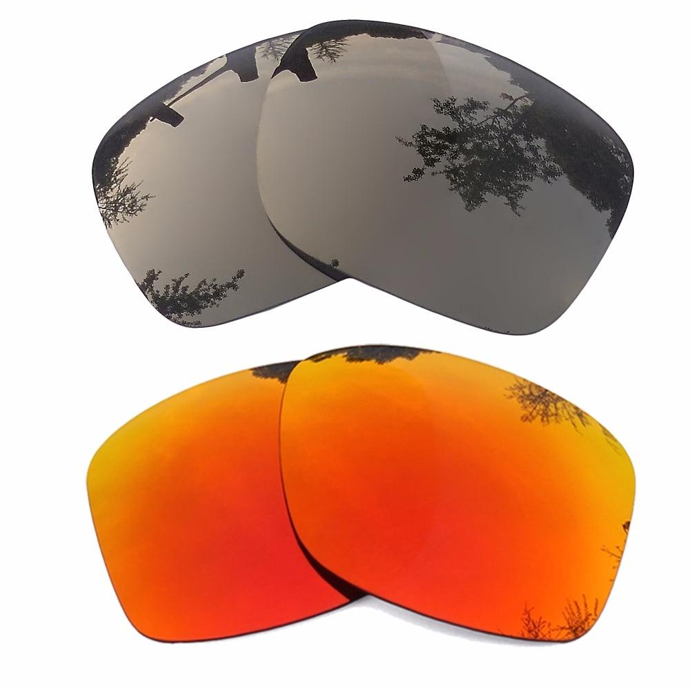Bronce oro espejo rojo y naranja espejo polarizado lentes de ...