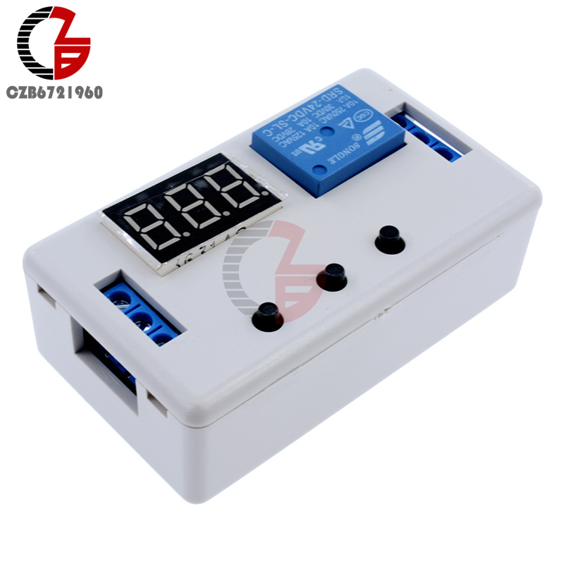 цена на DC 24V Digital LED Display Automation Time Delay Relay Timer Control Switch Relay Module with Case