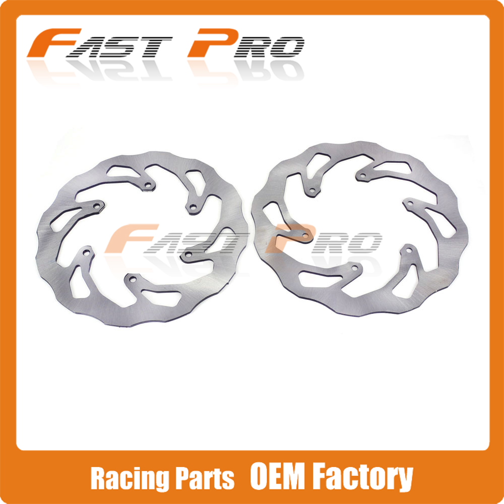 Front Rear Wavy Brake Disc Rotor Set For YAMAHA YZ250 WR250 YZ250F WR250F YZ 426F WR426F YZ450F WR450F Motocross Enduro Racing high quality 270mm oversize front mx brake disc rotor for yamaha yz125 yz250 yz250f yz450f motorbike front mx brake disc
