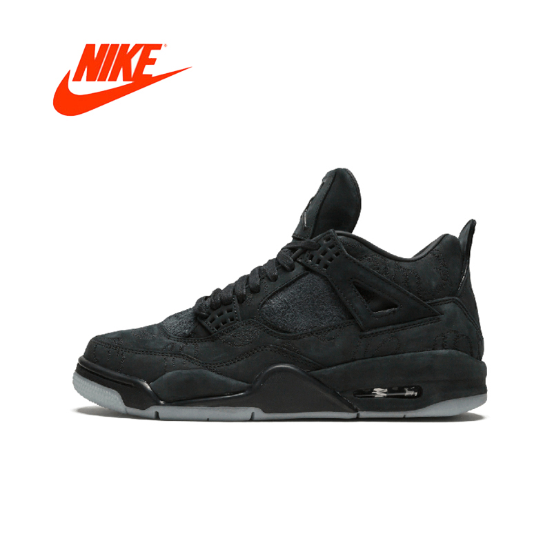 new product 3bdcc cb89e Original New Arrival Authentic Nike Air Jordan 4 Retro Kaws Men s  Comfortable Basketball Shoes Sport Outdoor