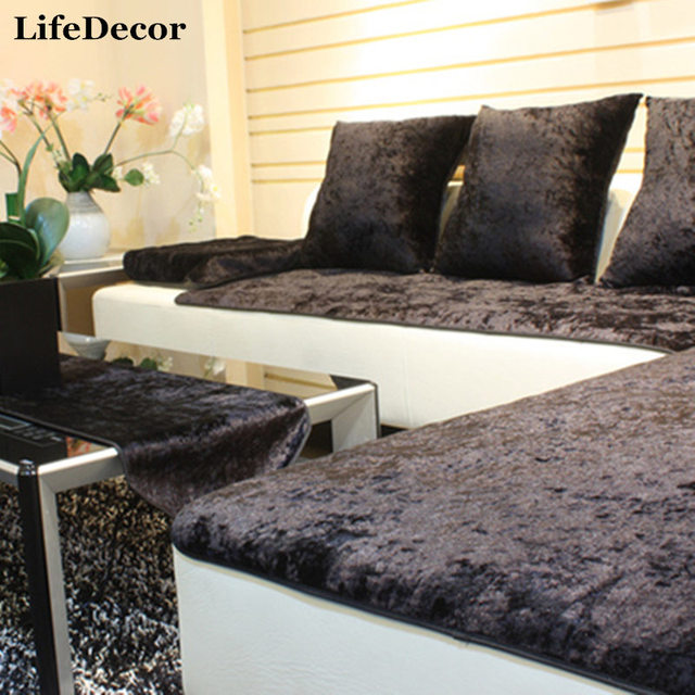 Simple Modern European Sofa Cover High Grade Leather Sofa Cushion Towel  Jacket Custom Made