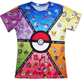 Funny Pokemon 3d t shirt Pokeball Deathstar T-Shirt summer style casual tops pullover unisex women men 5 Style plus size S-3XL