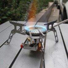 Promoción Plegable Estufa De Gas Portátil Al Aire Libre Que Acampan Yendo de Picnic Estufa con Encendedor 3500 W Equipo de Camping 16x16x5 cm