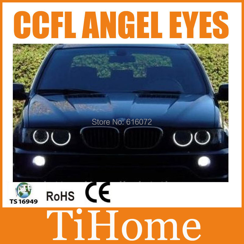 Free Shipping X5 CCFL ANGEL EYES NON PROJECTOR HALO RING CCFL ANGELEYES KIT FOR BMW X5