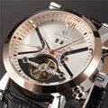 Forsining tourbillon wrap relojes para hombre reloj automático calendario reloj masculino de oro caso negro reloj mecánico del relogio masculino