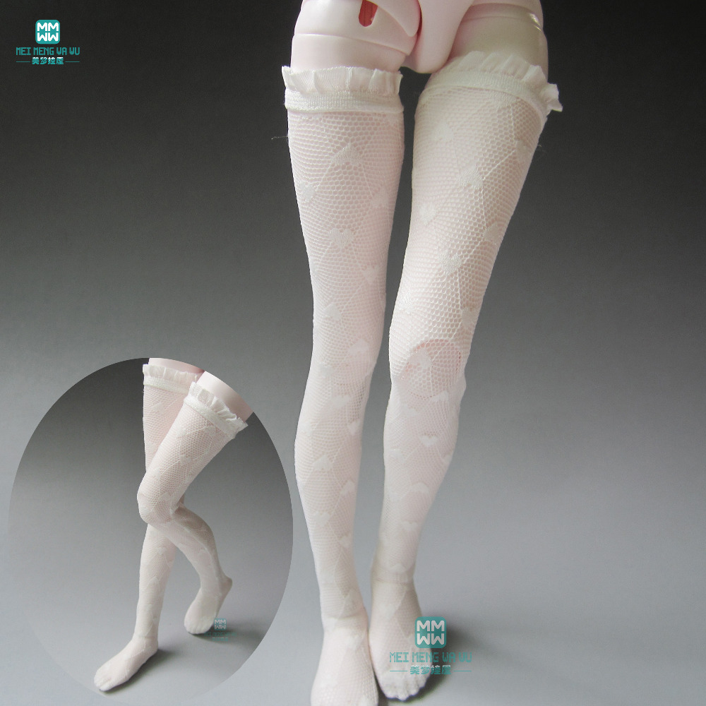 <font><b>BJD</b></font> <font><b>accessoires</b></font> doll socks for 1/3 <font><b>1/4</b></font> 1/6 <font><b>bjd</b></font> doll White lace leg socks image