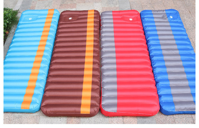 Wholesale 193*63CM Portable inflatable cushion Outdoor travel mat Camping air mattresses