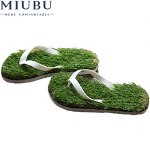 MIUBU Men Imitation Grass Flip Flops For Men Summer Beach Flip Flops Flat Shoe Out Sandals Slipper Women Sandalias Mujer стоимость