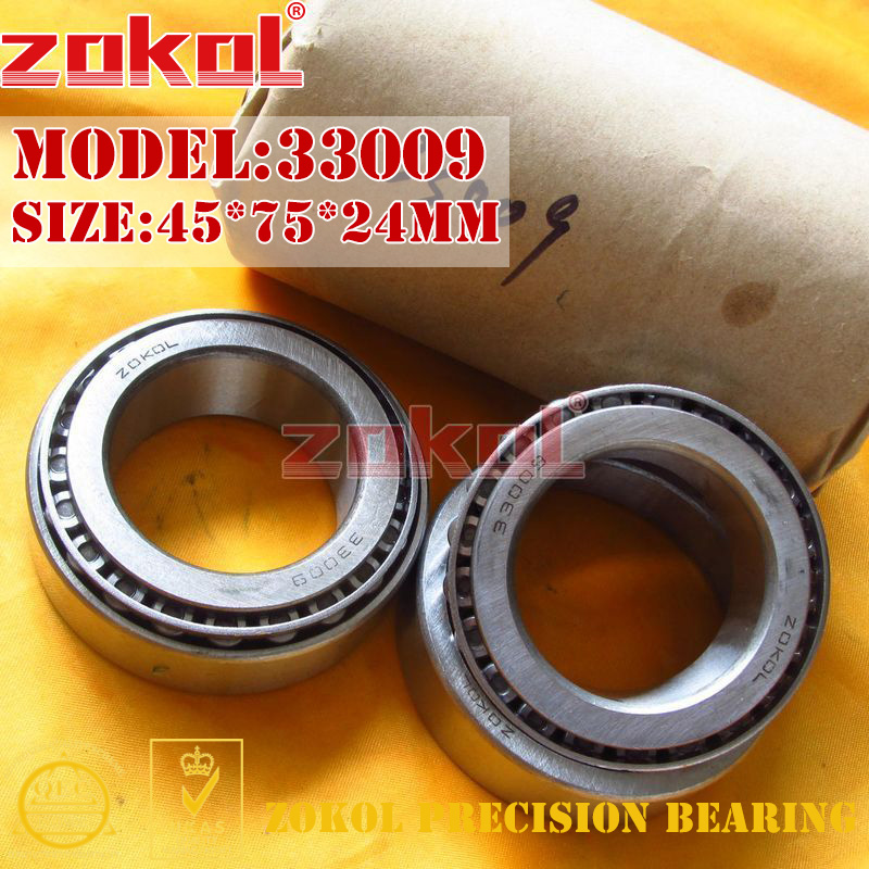 ZOKOL bearing 33009 3007109E Tapered Roller Bearing 45*75*24mm na4910 heavy duty needle roller bearing entity needle bearing with inner ring 4524910 size 50 72 22