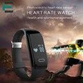 Кремний Smart Браслет heart rate monitor спортивные pedeneter мужчина женщина Браслеты для iphone Android РК Xiaomi mi группа запястье