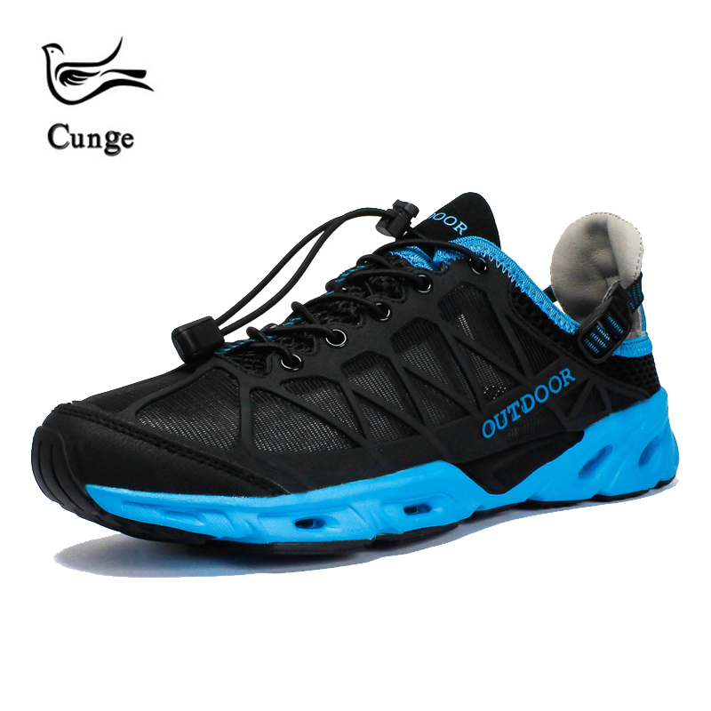 Cunge New Unisex Breathable Hiking Shoes Outdoor Sneakers For Men Women Wading  Hiking Shoes Sandals Trekking Mesh Water Sandals