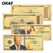 Billetes chapados en oro de 24K, regalos de dinero falso chapados en oro antiguo de alta calidad, 1 mil millones de dólares