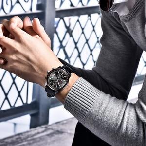 Image 5 - BENYAR Mens Watches 2019 NewLuxury Brand Quartz Leather Watch Men Fashion Chronograph Wristwatch Sport Clock Relogio Masculino