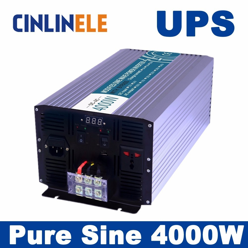 Universal inverter UPS+Charger  4000W Pure Sine Wave Inverter  CLP4000A DC 12V 24V 48V to AC 110V 220V 4000W Surge Power 8000W