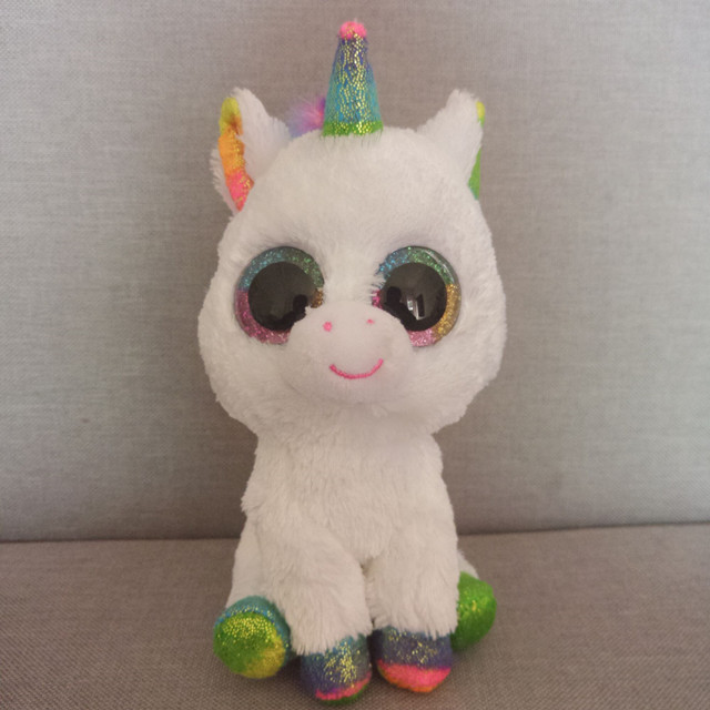 "Ty Beanie Boos Unicorn Plush Animal Toy Doll With Tag 6"" 15cm"
