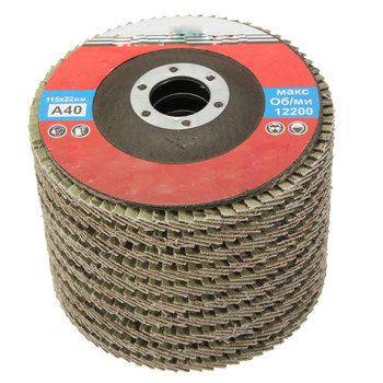 10Pcs/Set Professional Flap Discs 115mm 4.5 Inch Sanding Discs 40 Grit Grinding Wheels Blades For Angle Grinder Polishing Wheel