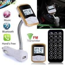 Nueva Llegada LCD Reproductor de MP3 Del Kit Del Coche de Bluetooth FM Del Modulador Del Transmisor SD MMC USB Remoto mr24