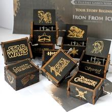 Дропшиппинг Античная резная деревянная рука игра трон Звездные войны престолов музыкальная шкатулка Рождественский подарок на год juego de tronos