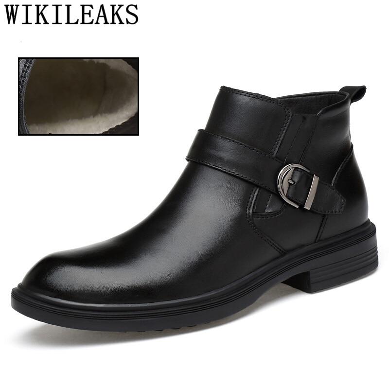 771473c8049ec7 Ayakkabi Hiver Cowboy Homme black Hommes Chaussures Noir Véritable Hombre  Bottine En Chelsea Zapatos Cuir Luxe ...
