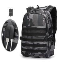 PUBG Backpack Men Laptop Bag Parent child Backpack Kids Bag Infantry Pack Student Schoolbag Camouflage Travel Canvas Knapsack