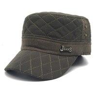 URSFUR New Winter Flat Top Hat Casual Cap Women Men Military Hats Warm Snapback Army Cadet Hat Hip Pop Dad Hat