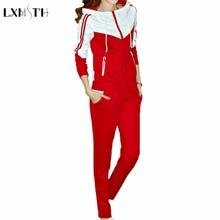 4XL 5XL Plus Size Casual Tracksuit For Women Zip Hoodie and Pants Set 2 Pcs Set Ladies Slim Two Piece Sporting Suits Set Blue