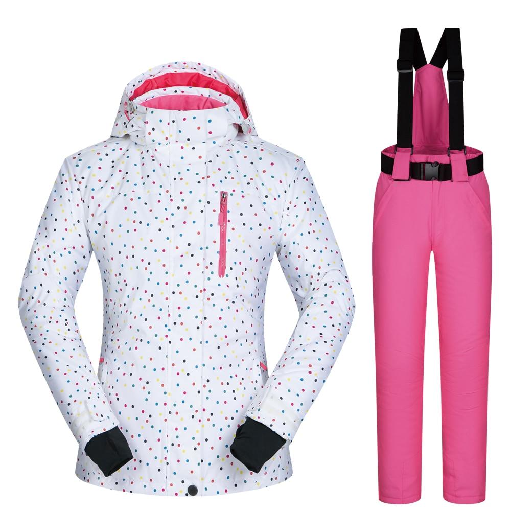 Ski Suit Women Brands Outdoor BDD Snow Suit Set Windproof Waterproof Winter Trousers And Jackets Mountain Snowboard Women Jacket