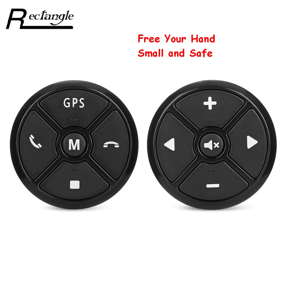 Rectangle font b Car b font Steering Wheel Controller Control Remote Multifunctional 4Key Music Wireless DVD