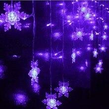 2015 LED String Strip Big Snowflake WEDDING Decoration 1.5×0.5m Flush Christmas Navidad Holiday Curtain Fairy Lights Luminaria