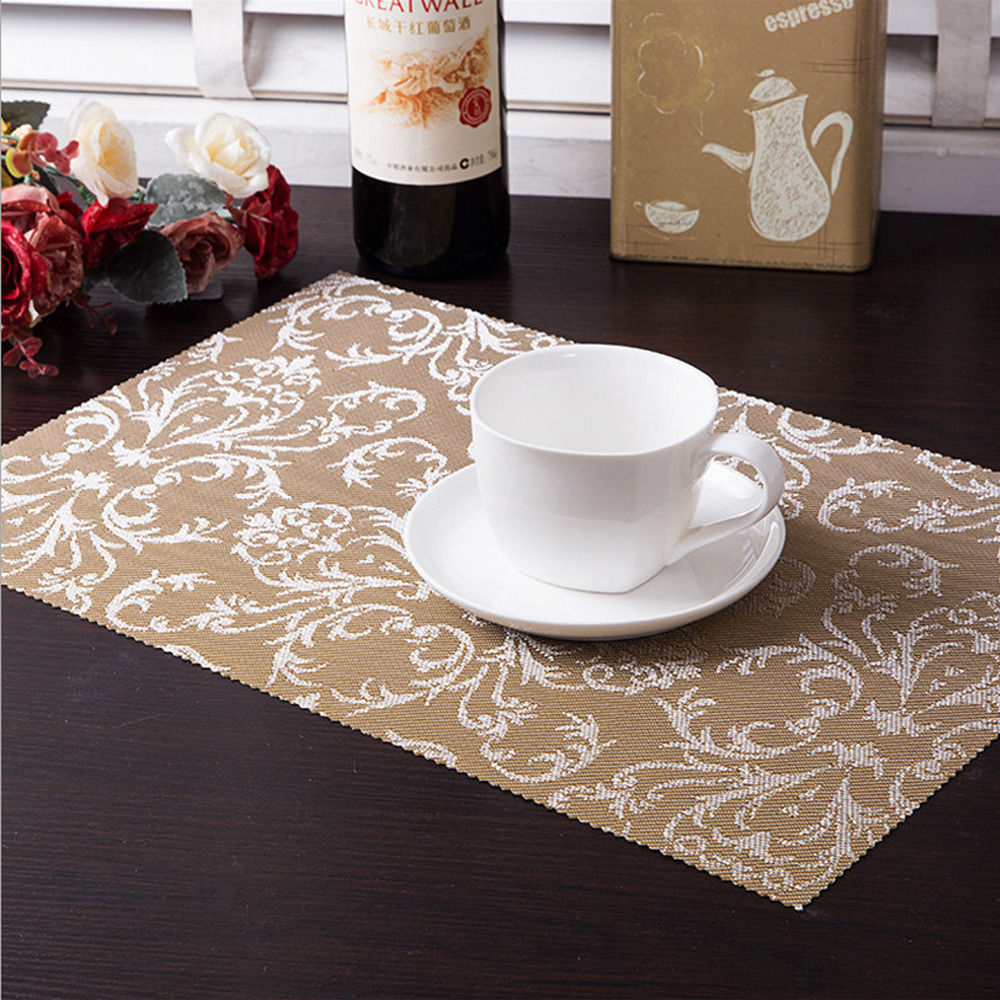 6PCS New High-quality Printing restaurant kitchens Placemats Insulation Mats Table Coasters Dining Sales