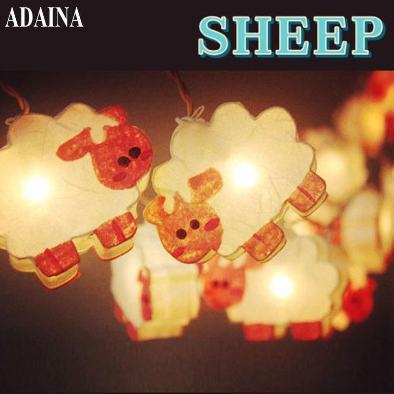 adaina 20led ac220v sheep paper led string light christmas lights for holiday party wedding indoor decoration - Decorative String Lights
