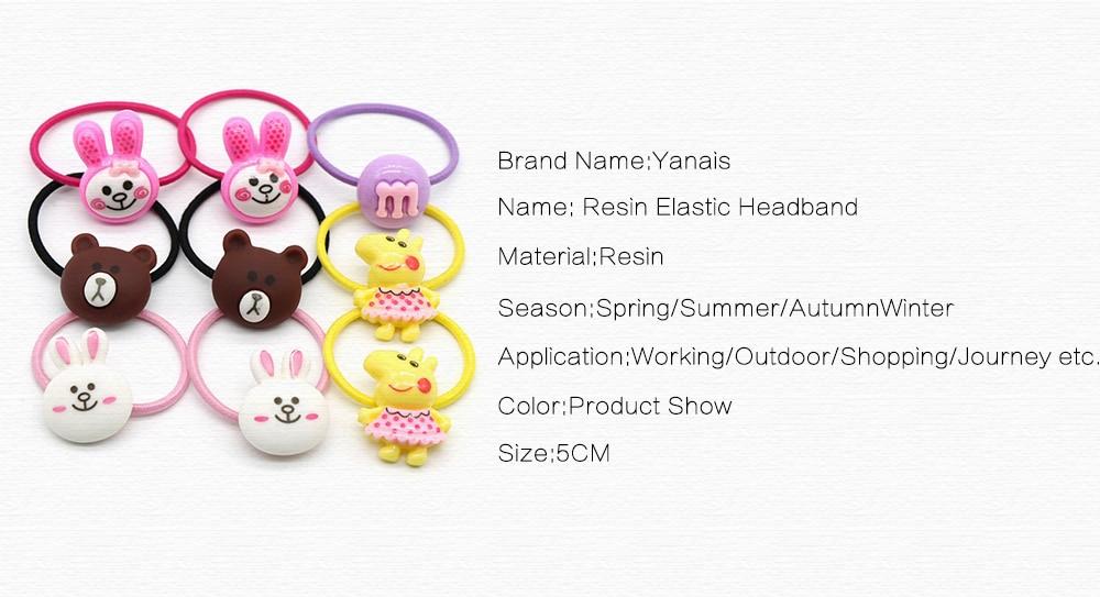 2pcs-set Purple-New Cute Animals Rabbit Duck Style Elastic Hair Bands Resin Pig Headband For Children Baby Girls Hair Accessories Christmas Kids Mom Soft 32973431170 Kids