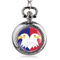 Античная стимпанк кварцевые карманные часы для мужчин цепочки и ожерелья армии США двойной подвеска в форме орла цепи Подарки