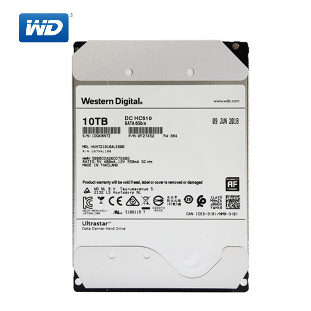 Western Digital 10TB Ultrastar DC HC530 <font><b>SATA</b></font> <font><b>HDD</b></font> - 7200 RPM Class <font><b>SATA</b></font> 6Gb/s 512MB Cache <font><b>3.5</b></font>