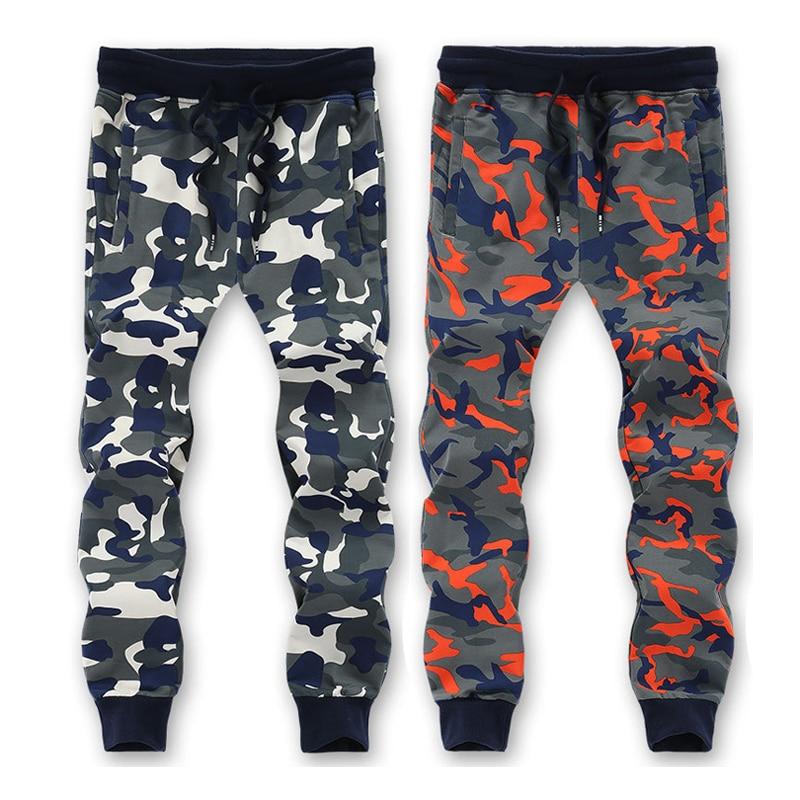 L-6XL 7XL 8XL=52.54 Inch Waist 95% Cotton Camouflage Sweatpants Men Trousers Sweat pants 2016 New Arrived