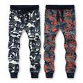 L-6XL 7XL 8XL Cintura = 52.54 Polegada 95% Algodão Camuflagem Sweatpants Homens Calças Sweat pants 2016 Nova Chegou