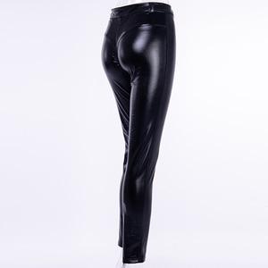 Image 5 - InstaHot PU yumuşak elastik sıska kalem pantolon kadınlar 2018 sonbahar kulübü moda dantelli pantolon Push Up tayt seksi Punk pantolon kız