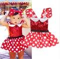 Cartoon Newborn Baby Girl Dress 2017 Summer Toddler Kids Clothes Ruffles Sleeve Dot Princess Dresses