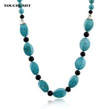 Женская винтажная бусина цепочка toucheart богемное ожерелье