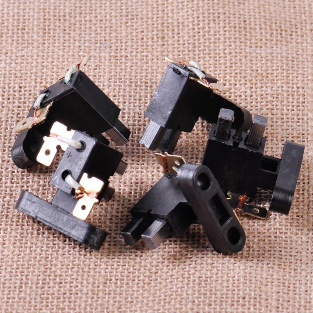 8,2mm Couvercle brosse 20pcs noir 9mm D.I Porte Brosse Carbone Caps 15mm D.E.