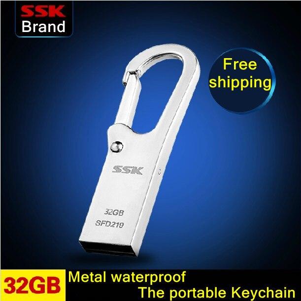 SSK SFD219 K6 USB Flash Drive 100% 32 ГБ Pen Drive Металл Водонепроницаемый Памяти Usb Stick Бесплатная доставка