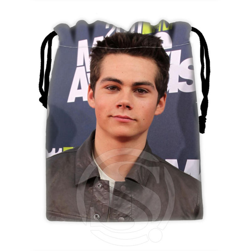 H-P703 Custom Dylan O'brien#2 Drawstring Bags For Mobile Phone Tablet PC Packaging Gift Bags18X22cm SQ00806#H0703