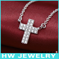 cross necklace,silver cross  necklace, heart shape jewelry.silver 925 jewelry