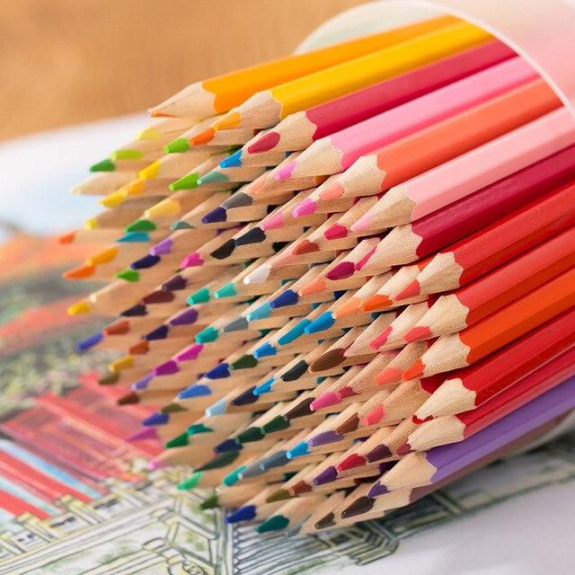120 Цветов Карандаш Набор Жирной Цветной Карандаш Живопись Рисунок Художественные Принадлежности Для Написать Рисование Ляпис Де Кор